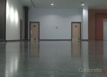 mahogany stained concrete floor